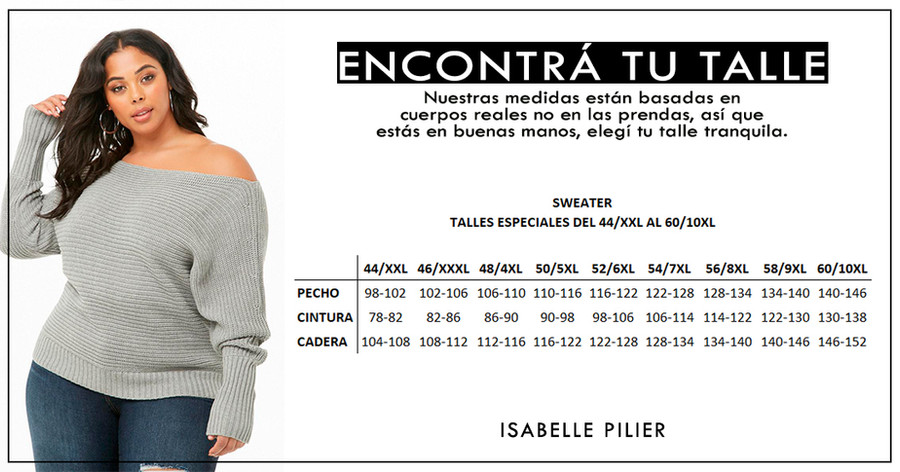 SWEATER TALLES GRANDES