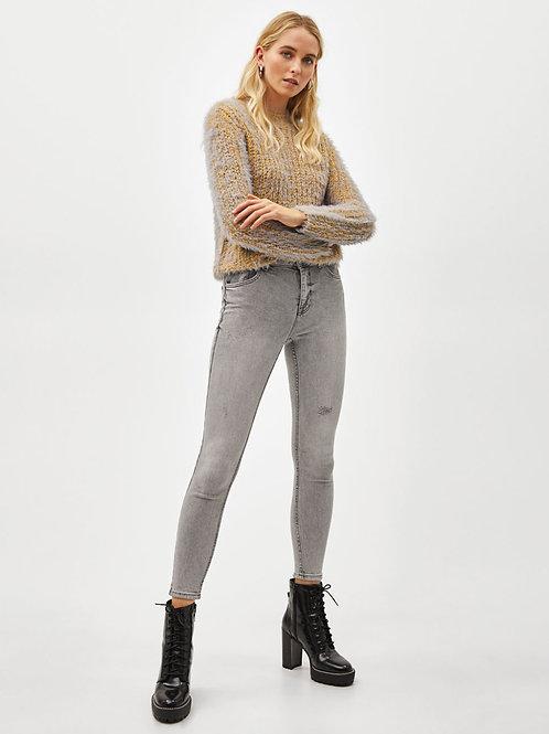 Pantalón Jeans Gris Claro Importado de Mujer