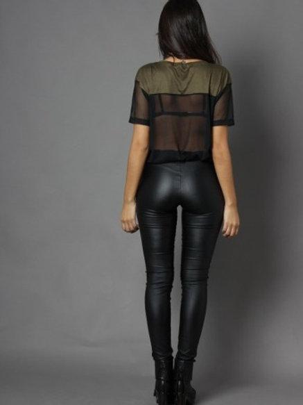 Calza Pantalón Engomado Negro