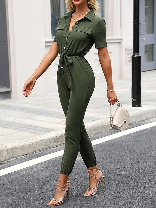 Mono Importado de Vestir Color Verde Militar