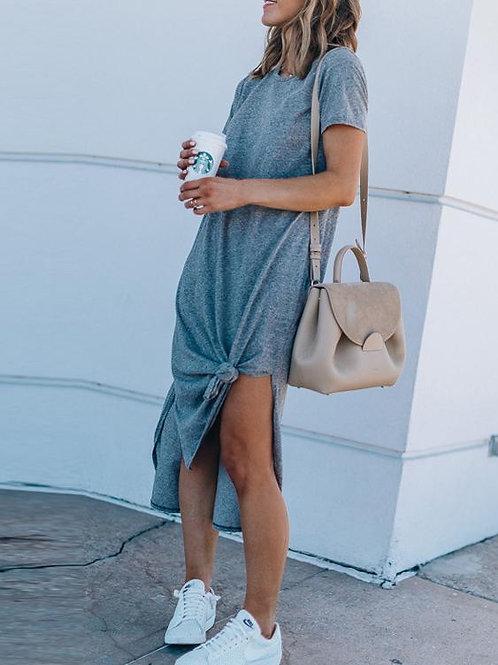 Vestido Largo de Mujer Color Gris