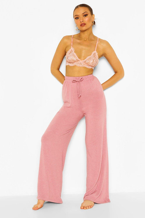 Pantalón Palazzo De Mujer Color Rosa Nude