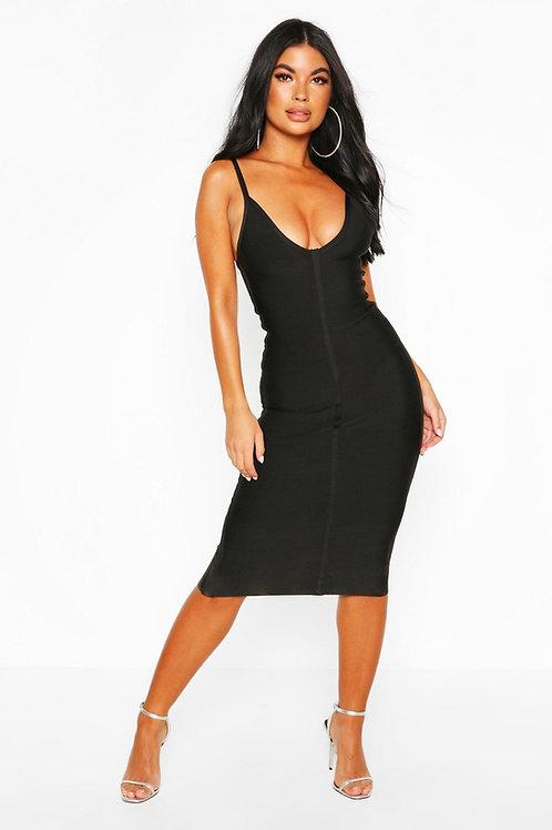 Vestido  Negro  De Mujer Escotado