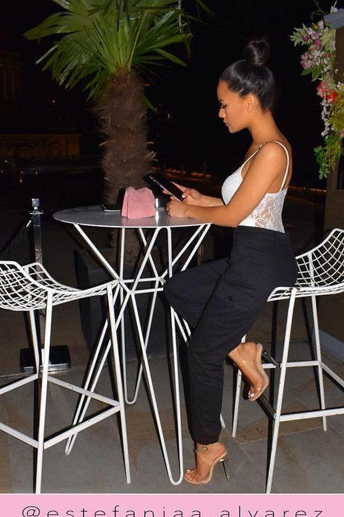 Pantalón Cargo Gabardina Importada Negro de Mujer