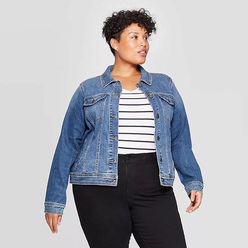 Campera De Jeans De Mujer Color Azul Talles Especiales