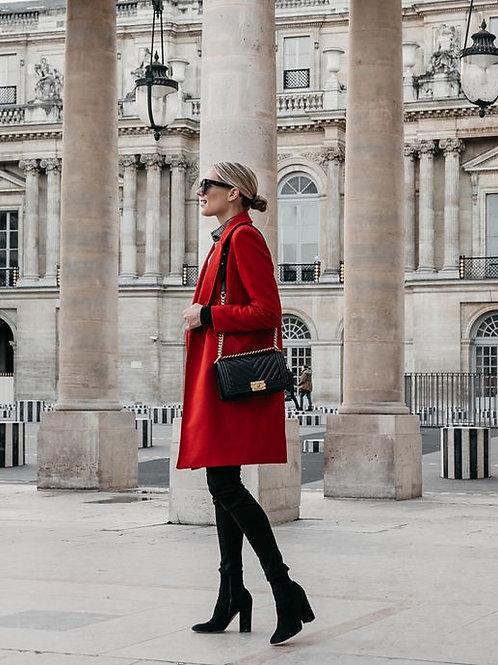 Tapado de Paño de Mujer Rojo Pasion