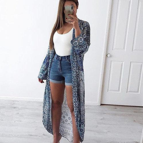 Short Tiro Alto de Mujer Azul