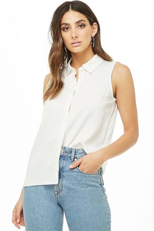 Camisa Básica Musculosa Color Blanca