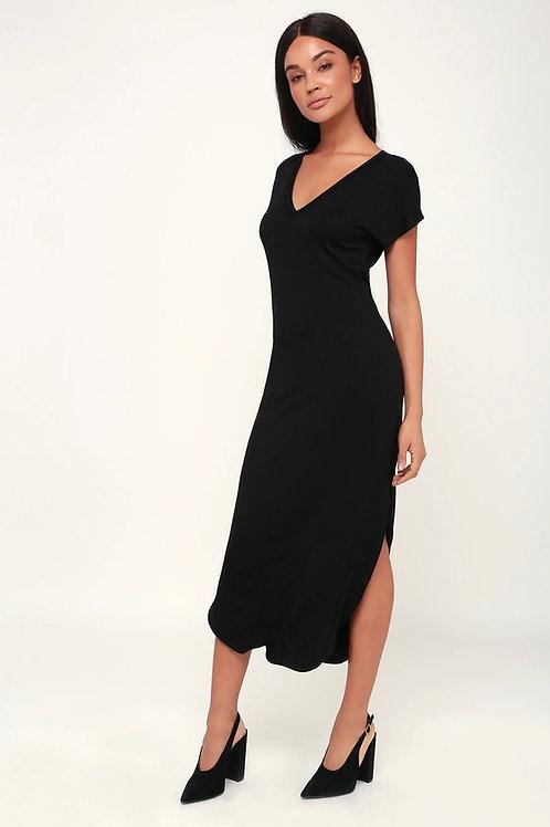 Vestido Largo Amplio Negro De Morley Importado