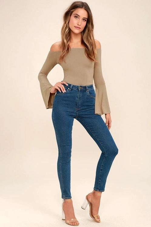 Pantalón Jeans Azul Claro Elastizado Chupin