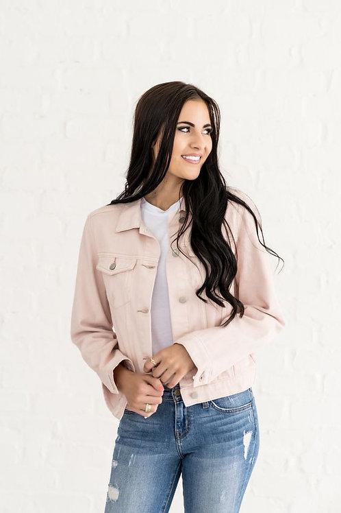 Campera de Jeans de Mujer Color Rosa