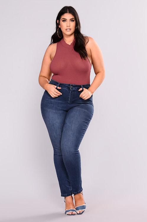 Pantalón Jeans de Mujer Talles Grandes Azul