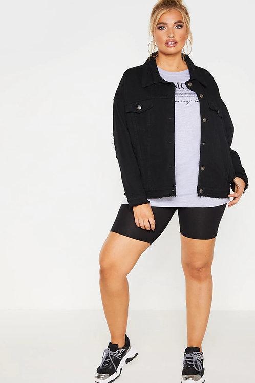 Campera De Jeans De Mujer Color Negra Talles Especiales