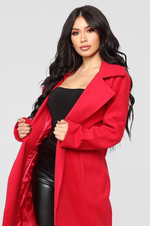 Tapado de Paño Rojo De Mujer