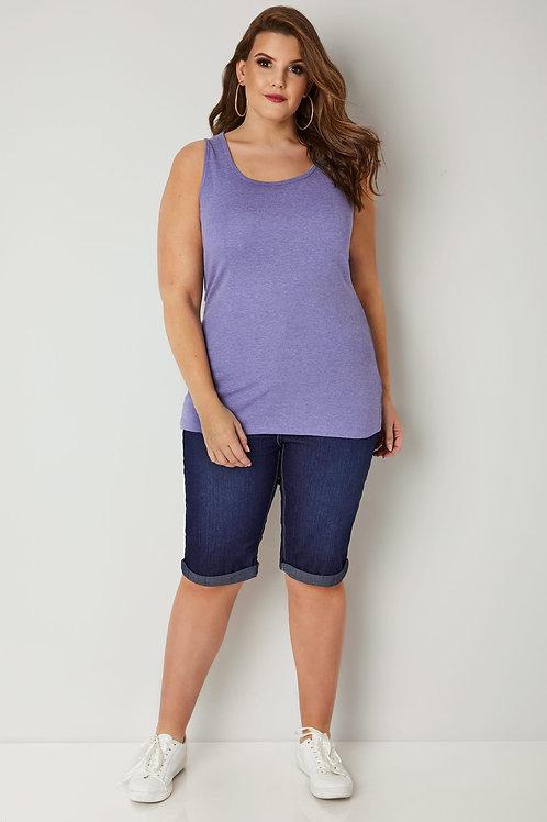 Bermuda de Jeans Azul Elastizada Talles Especiales