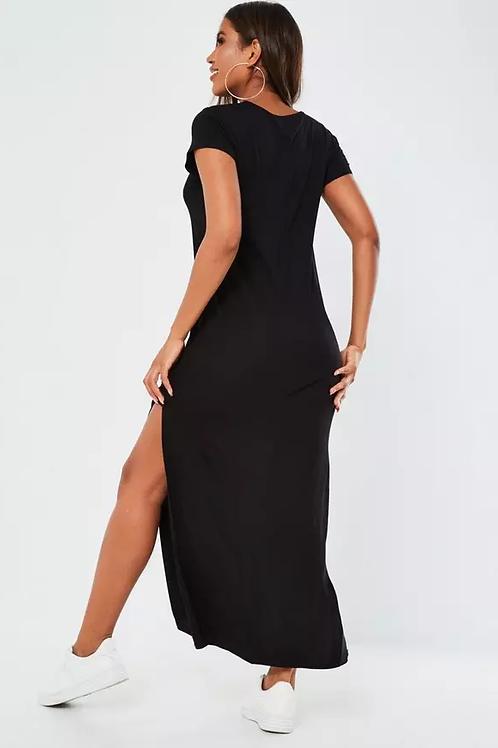 Vestido Largo de Mujer Color Negro