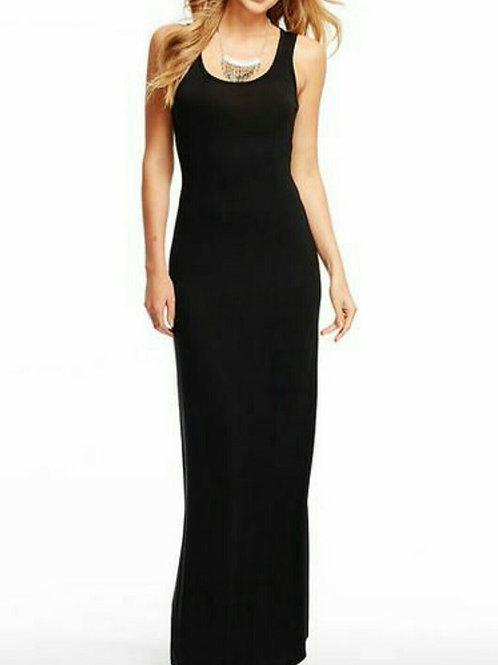 Vestido Largo Modal de Mujer Color Negro