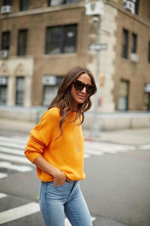 Sweater Lana Mostaza De Mujer