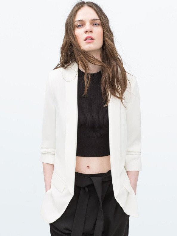 muy bonito venta caliente barato mejor valorado Blazer Saquito Largo De Vestir Color Blanco