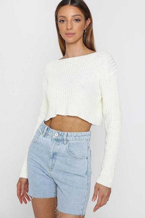 Sweater Corto Manga Larga Importada