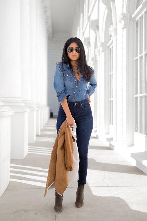 Pantalón Jeans Azul Importado Mujer