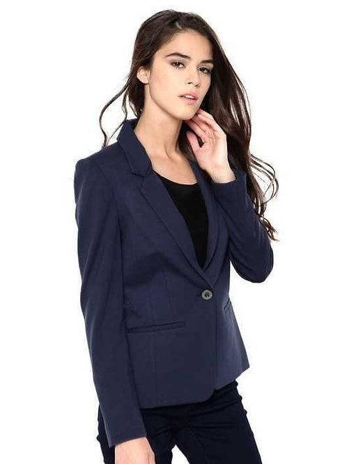 Blazer De Mujer Color Azul Marino