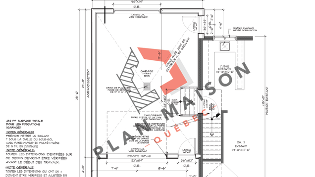 plan detaille maison 5
