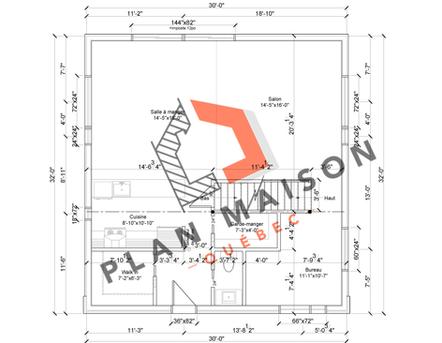 plan amenagement interieur maison 5