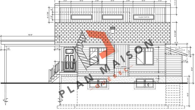 plan construction maison plain pied 1