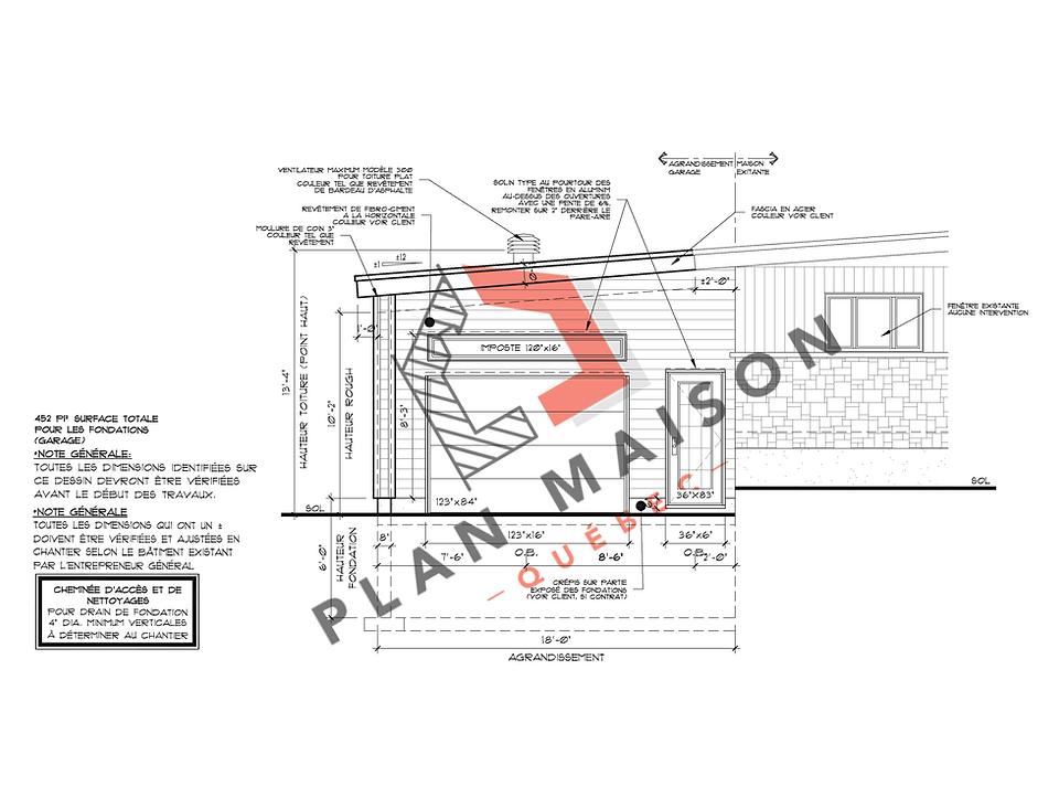 Plan détaillé maison