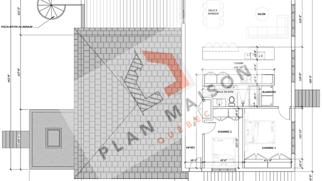 plan de construction appartement 4