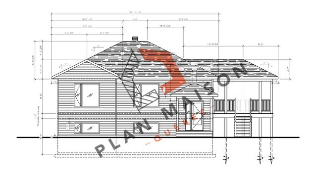 plan de maison plain pied 1