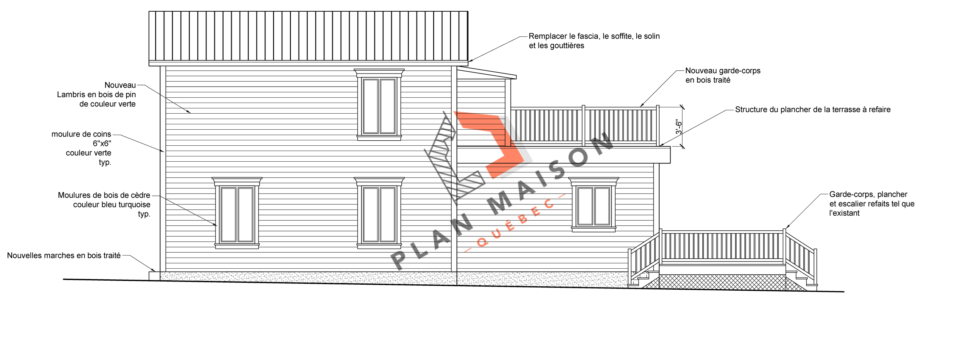 plan de maison facade 4