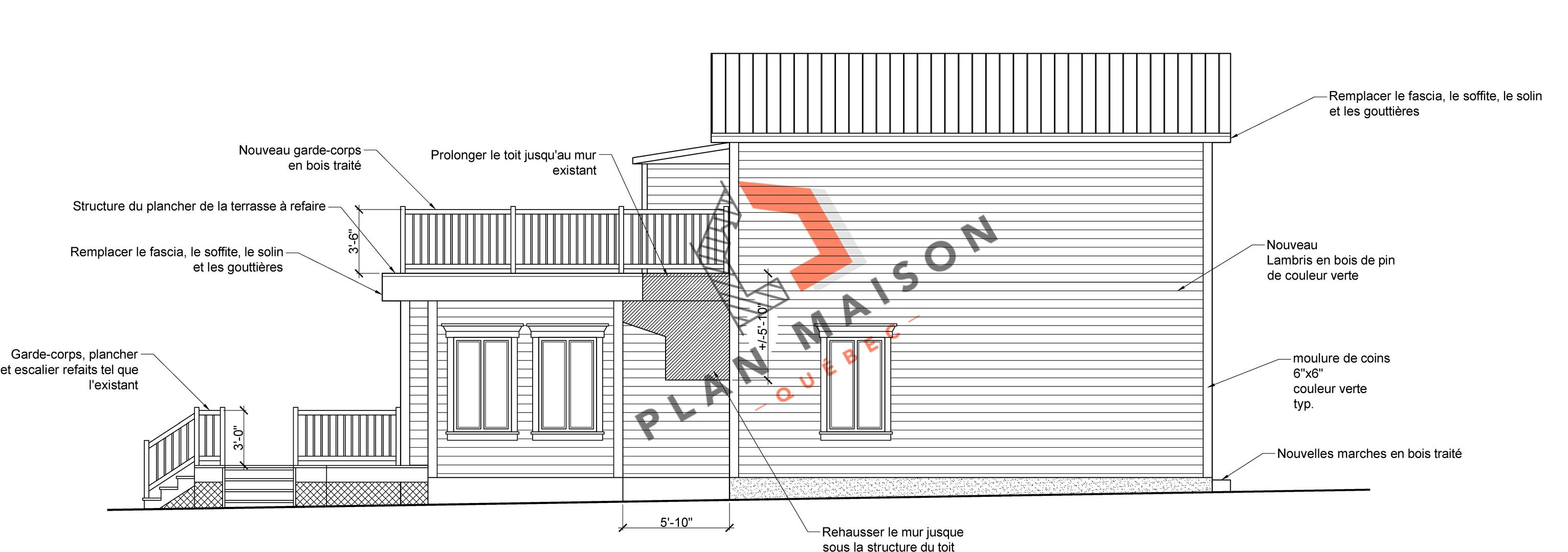 plan de maison facade 8