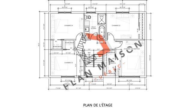 plan maison etage 12