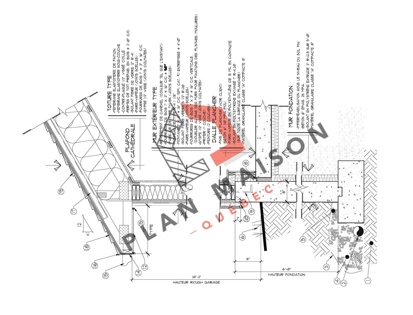 plan detaille maison 6