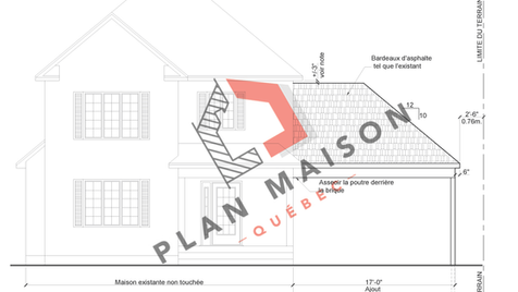 Plan de construction batiment