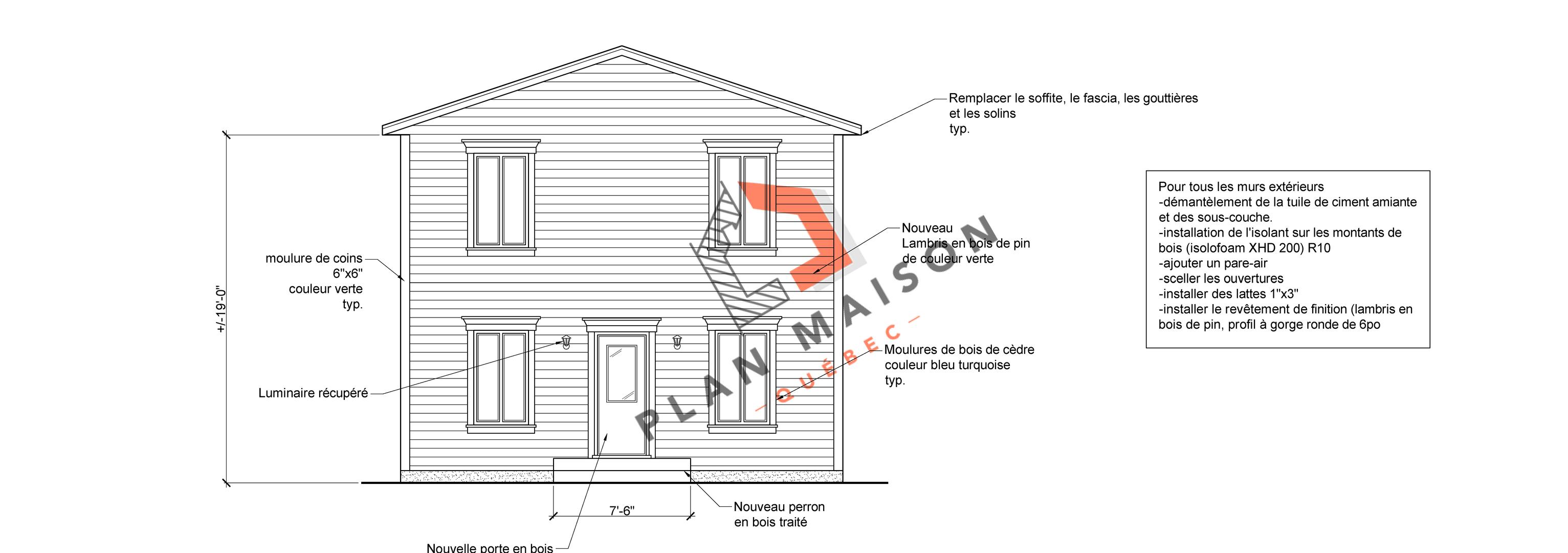 plan de maison facade 7