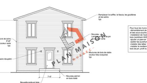 Plan de maison façade
