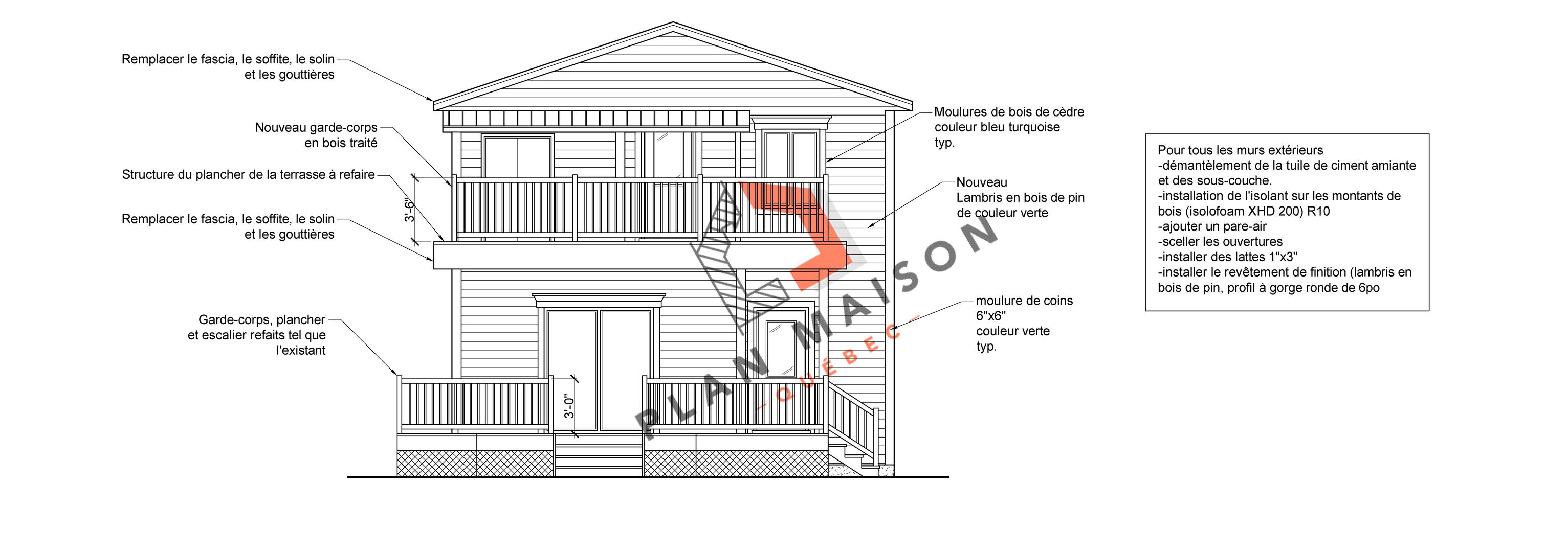 plan de maison facade 9