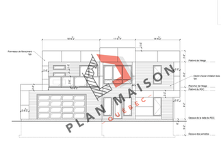plan maison moderne 1