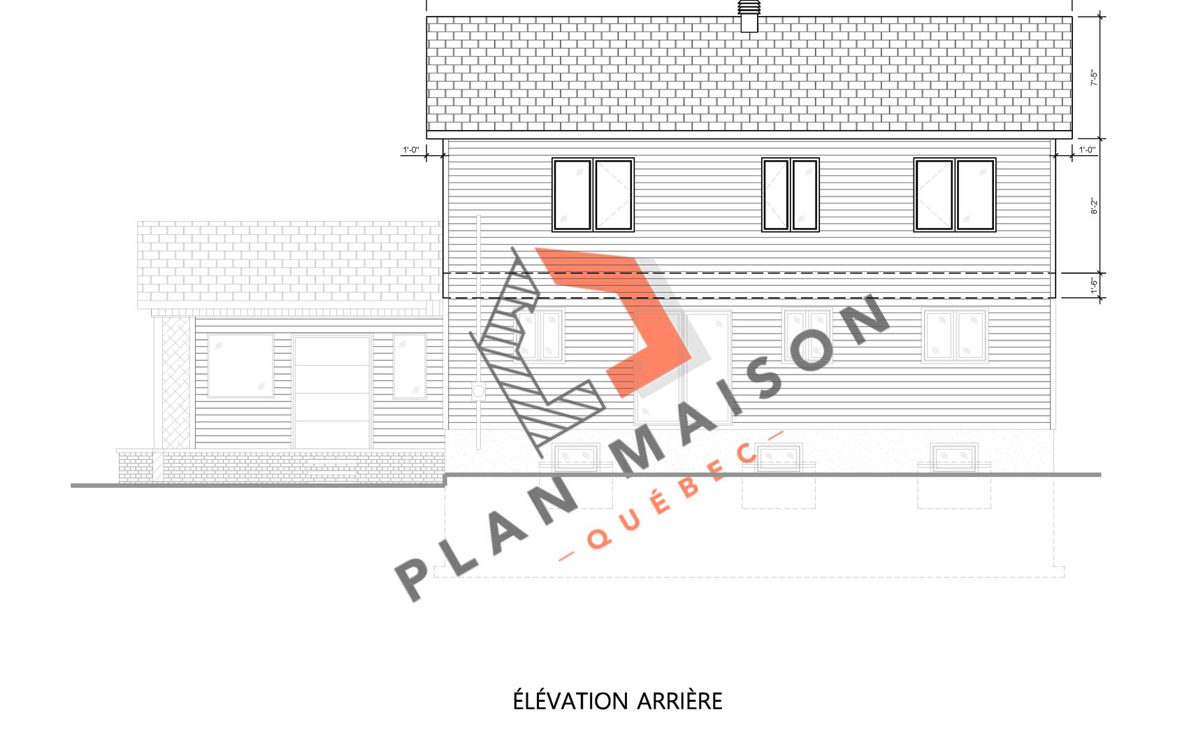 plan maison etage 10