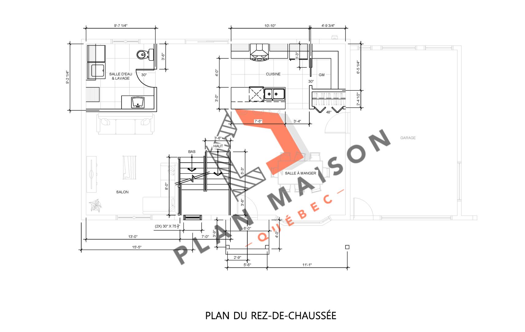 plan maison etage 11