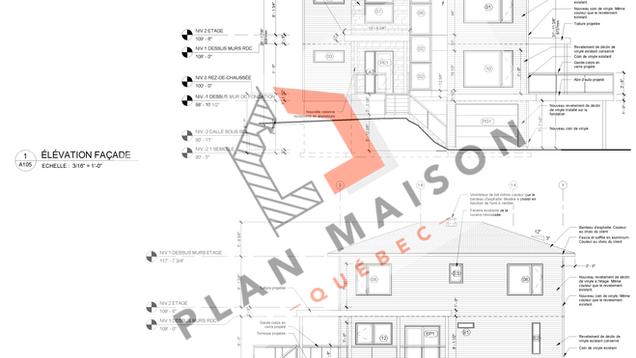 plan extension maison 2