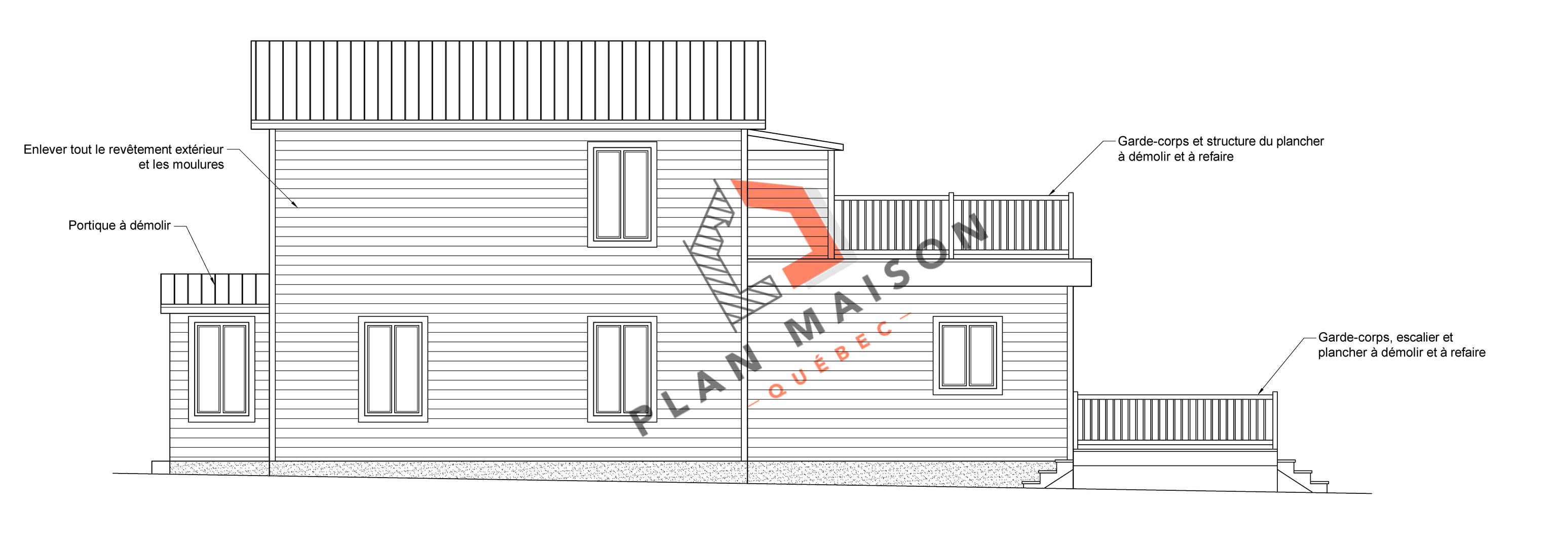 plan de maison facade 10