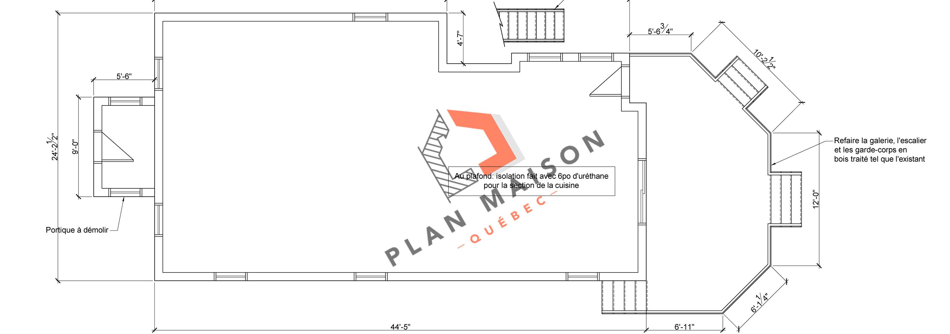 plan de maison facade 5