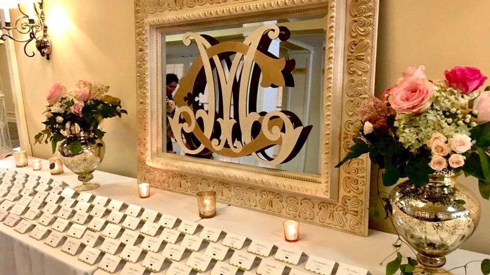 Ivory & Gold Mirror