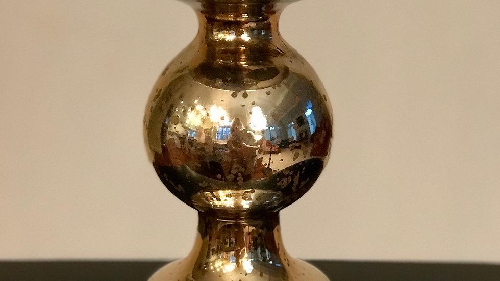 Gold Mercury Candle Holder - short