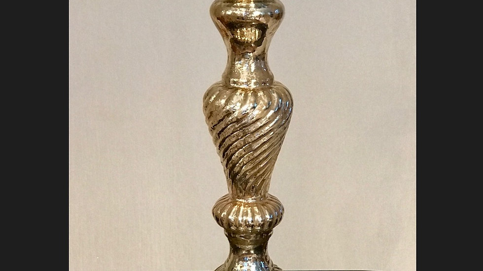 Gold Mercury Spiral Candle Holders - Tall