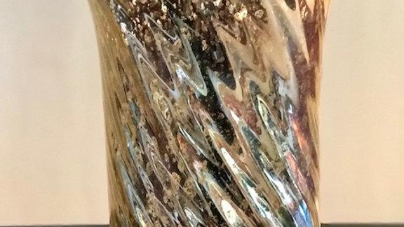 Bejeweled Swirl Mercury Vase - Large